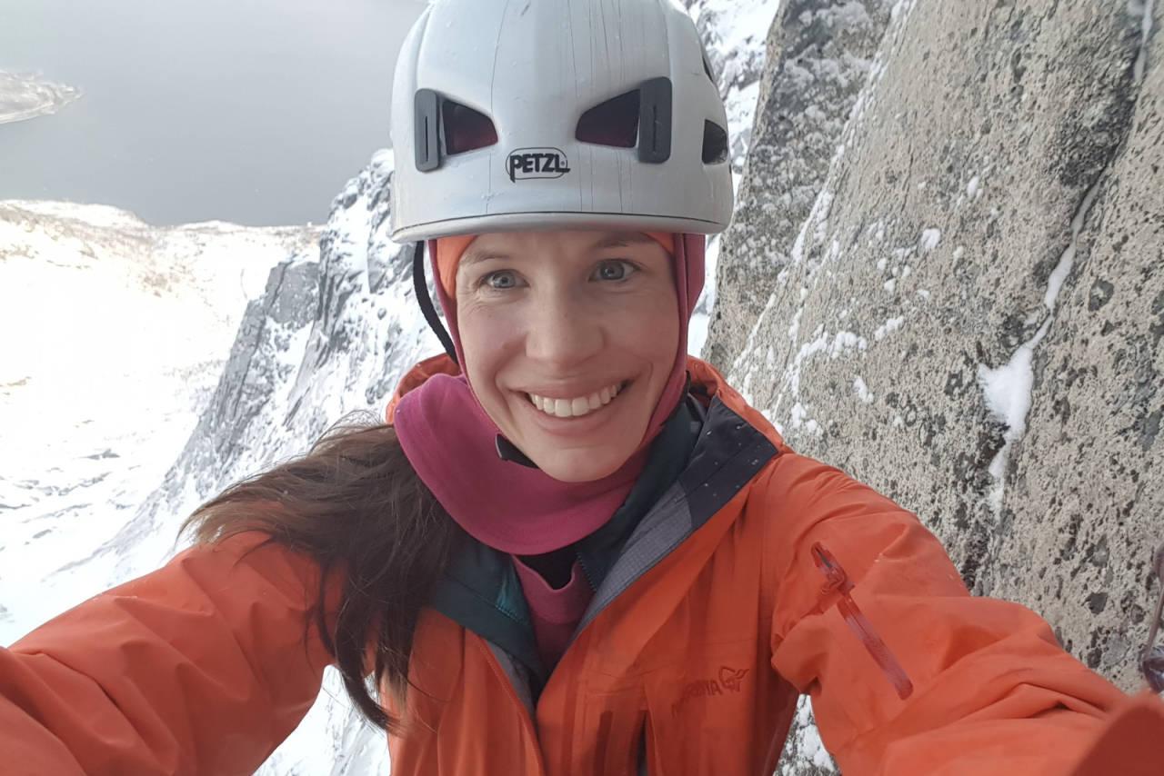 MERRICK MORDAL: Tobarnsmor, prosjektleder i Perpetuum, under utdanning til å bli skivegleder, og er mye i fjellet. Les hva hun har i sekken på alpinklatretur.