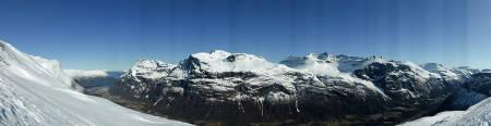 Utsikten var det ingen ting og si på. Foto: Toralf Furseth