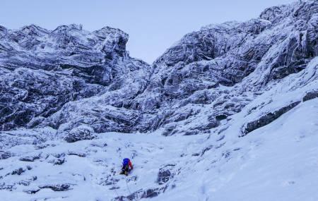 Nordveggen på Kaldfonna. Foto: Kjetil Grimsæth