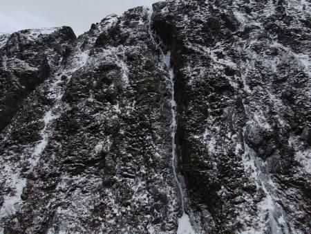 Ny isrute i Harstad «Coronagym», WI4, 250 meter. Foto: Christian Dramsdahl