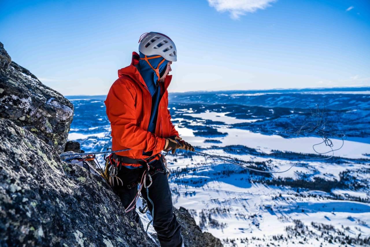 SKOGSHORN: Siluetten i Hemsedal er en fin tur for å komme i gang med alpin- og miksklatringa. Foto: Lars Petter Jonassen