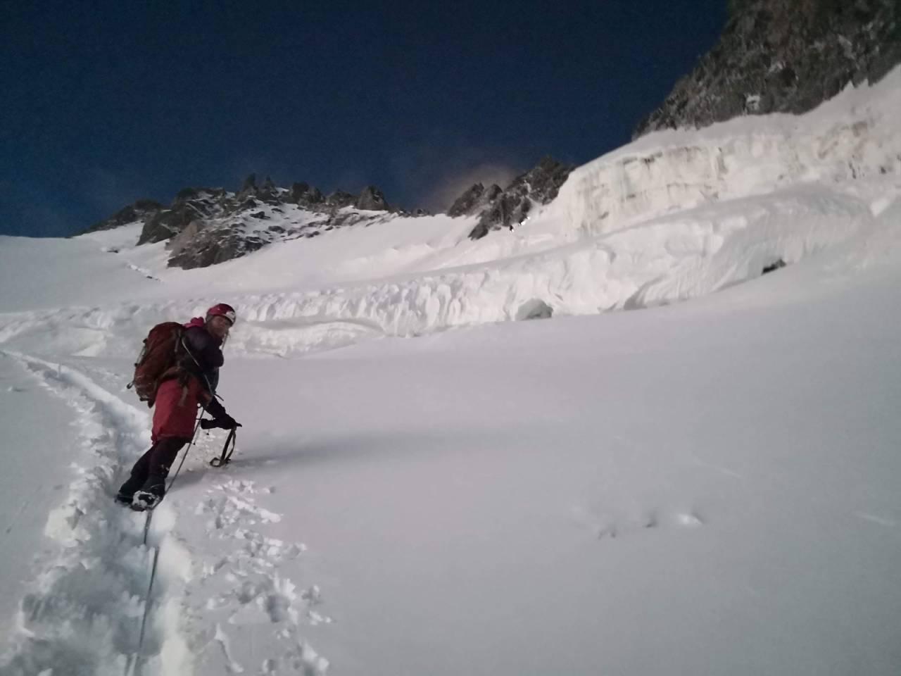 Alpinklatring, alpinisme, Chamonix, Mt. Maudit