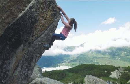 Anna Stöhr klatrer ved Innsbruck.