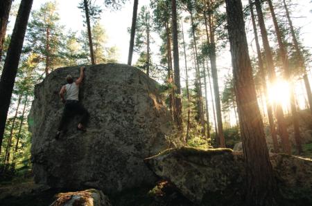 LEPPA: Christian Thorjussen på Terning-mannen (7A), Hovda. Foto: Eirin Breie