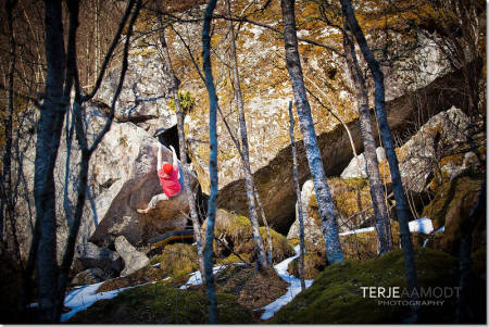 Buldring i Vistdalen. Foto: Terje Aamodt/Terjeaamodt.com
