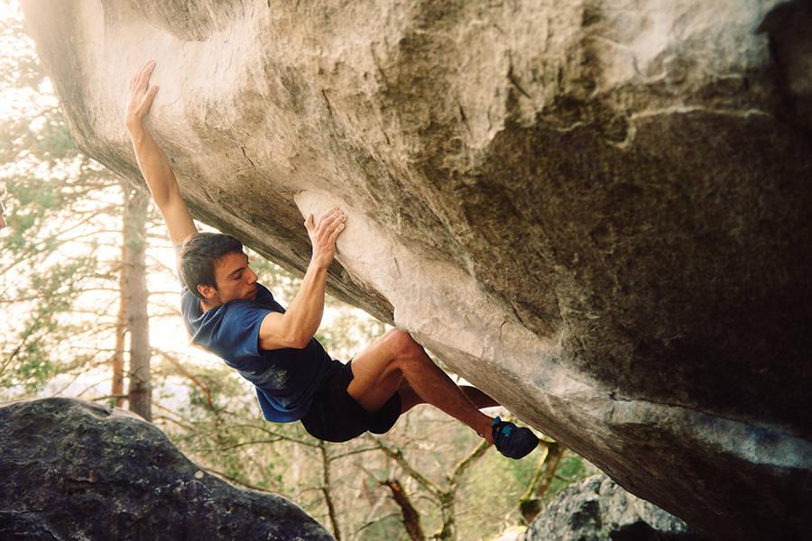 Belgieren Simon Lorenzi har kanskje gått verdens hardeste bulder i Font. Foto: Gilles Charlier