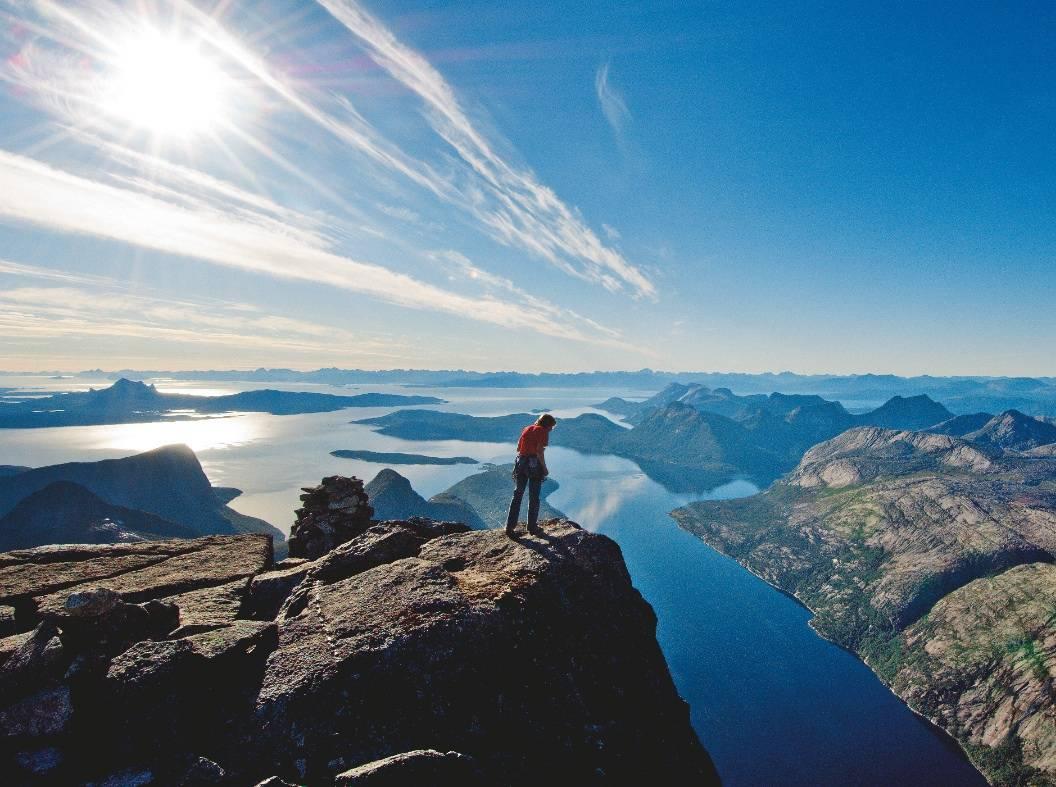 Om fjellet er stygt er i alle fall utsikten fantastisk. Foto: Lars Thulin