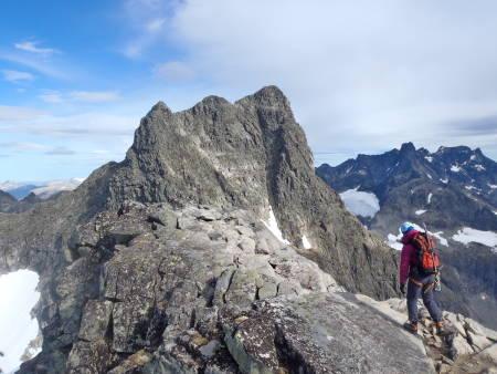 Austabotntindtraversen, Hurrungane, fjellklatring