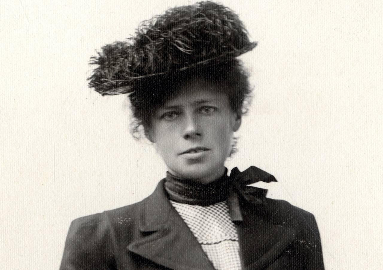 Therese Bertheau banet veien for kvinner i klatresporten. Bilde utlånt av Gamle Bergen bymuseum.