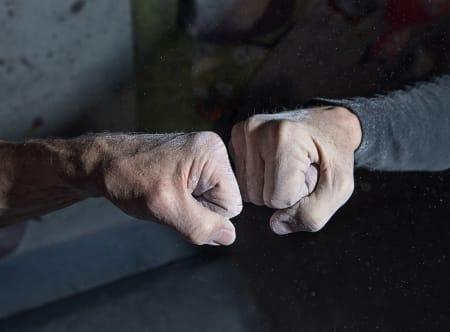 På Klatreverket møtes en gjeng unge 70- og 80-åringer flere ganger i uken. Foto: Hanna Jordan