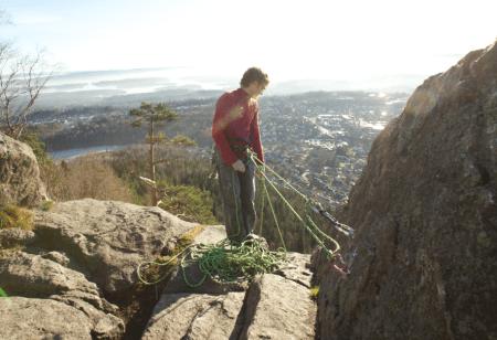 Bolter på toppen av Øvre Sydstup. Foto: Dag Hagen