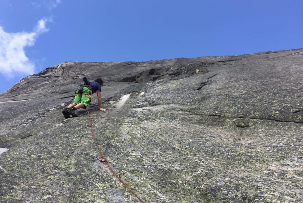 Henning Wang leder på Dragons Tail på Hægefjell. Foto: Dag Hagen