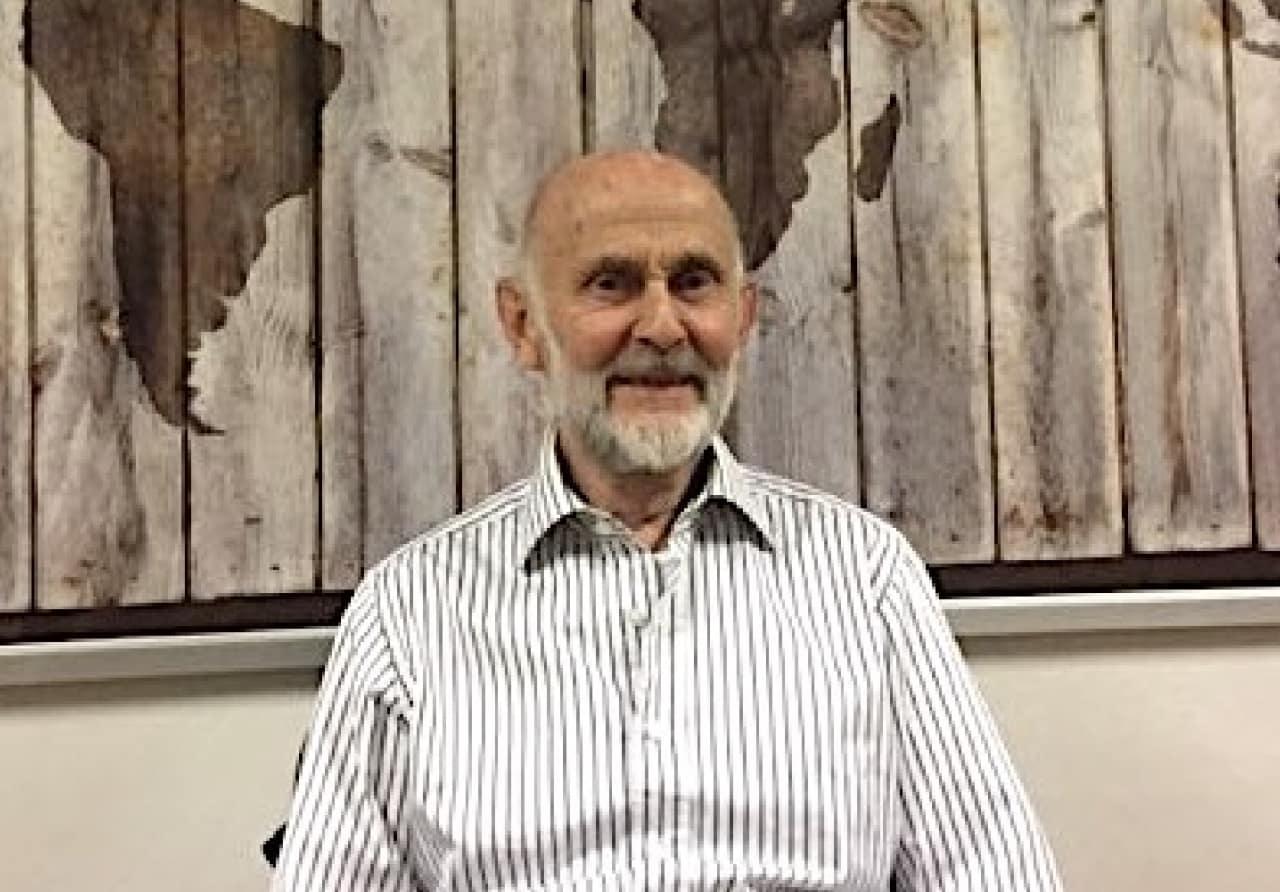 Klatrenestor: Arne Lind (83) fra Geriatrisk Klatrekompani. Foto: Egil Fredriksen