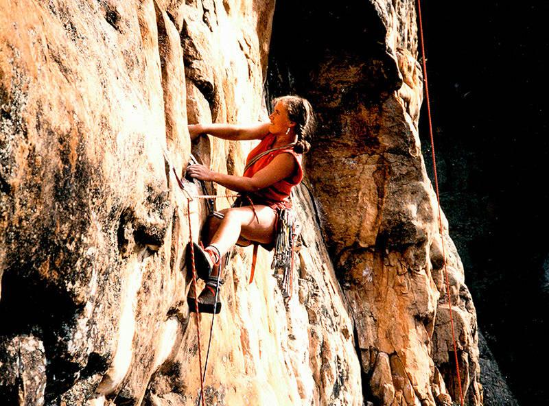 HELT NATURLIG: På New Image i Mt Arapiles, Australia, 1986. Foto: Olle Nykvist