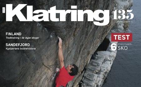Alex Honnold på coveret av Klatring 135.
