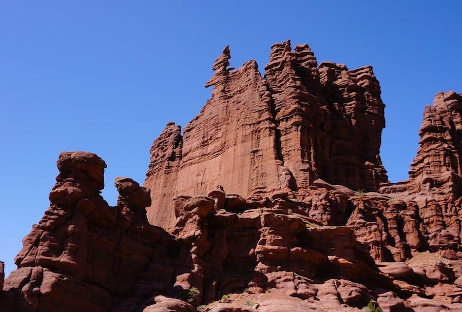 En av sakene forfatteren trekker fram er sandsteinstårn i Utah. Her er Corq Sqrew Summit, bedre kjent som Ancient Art. Foto: Dag Hagen