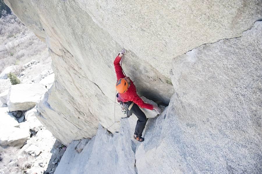 Tradklatring er kanskje den delen av klatresporten som er mest krevende rent fysisk. Her klatring ved Salt Lake City i Utah. Foto: Ben Winston
