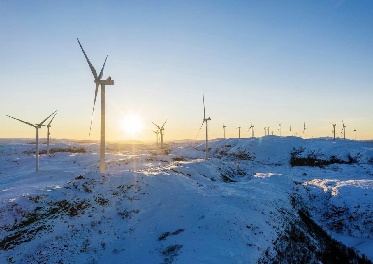 Roan vindpark er en del av den enorme Fosen-utbyggingen..Foto: Ole Martin Wold (Statkraft)