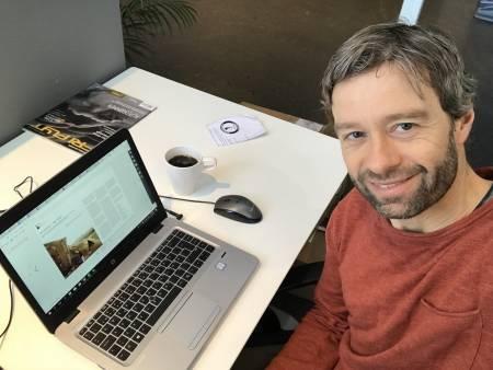 Geir Evensen jobber med bok om klatresikkerhet, som kommer ut i 2019.