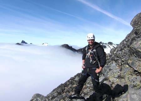 Kris Roar Tveiten i fjellet, der han kanskje likte seg aller best. Her på Storen i 2012. Foto: Jan Egil Hansen