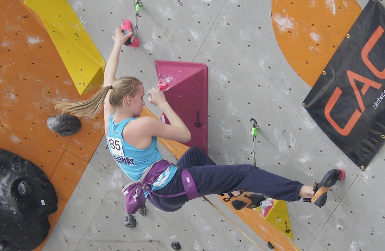 Lisa-Marie Kvandahl på 2. kvalik-rute. Foto: Thor-Henrik kvandahl