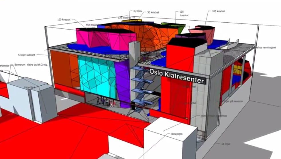 Oslo Klatresenter skal bli Nord-Europas største.