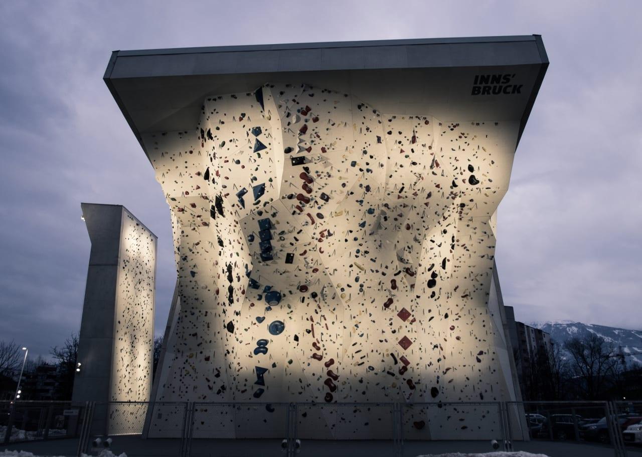 En del av Kletterzentum Innsbruck er utendørs. Foto: Petter Berggren