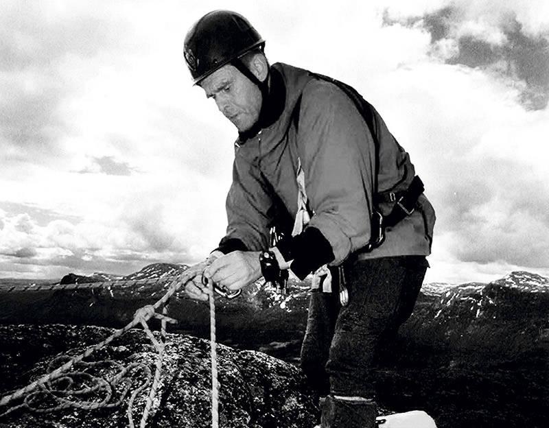 MØT: Tindevegleder og fjellnestor Nils Faarlund.