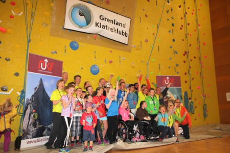 FØRSTE GANG: I helgen ble Norges aller første nasjonale klatrekonkurranse for funkjsonshemmde arrangert i Skien Fritidspark. – En kjempesuksess, sier  Katrine Lyngstad Smørsgård.