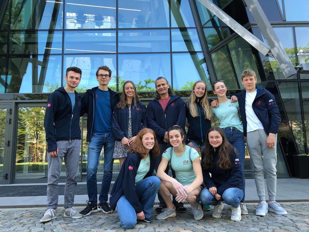Det norske laget på plass i Sofia. Foto: Norges Klatreforbund