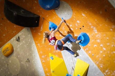 Tina Hafsaas kvalifiserer seg til finale med denne sekvensen. Foto: Thor-Henrik Kvandahl