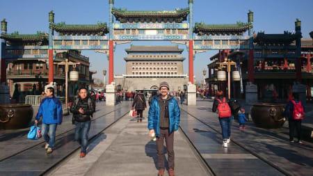 Verdenscupen i isklatring holdes over hele verden. Her er Ian Hanson i Kina.