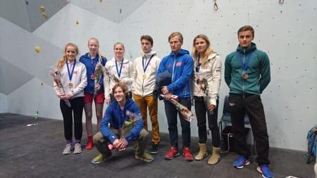 Alle de norske medaljevinnerene. Foto: Thor-Henrik Kvandahl