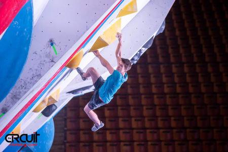 Thilo Schröter på forrige verdenscup i Moskva. Foto: Eddie Fowke ved The Circuit Climbing