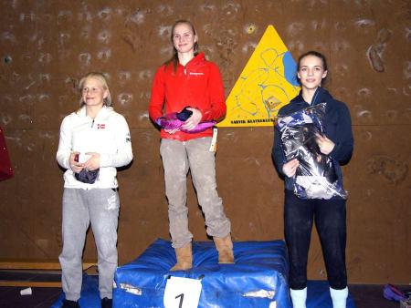 Lisa-Marie Kvandahl til topps på pallen for fjerde gangen på rad i Norgescupen på tau. Foto: Thor Henrik Kvandahl