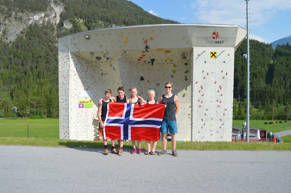 Den norske gjengen. Foto hentet fra Norges Klatreforbund sin Facebookside.