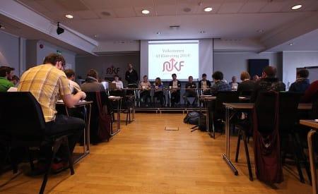 Forslaget om obligatorisk grunnlisens og forsikring ble nedstemt i helga. Her fra Klatretinget i 2014. Foto: Dag Hagen