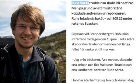 Faksimile fra Bergsport.se