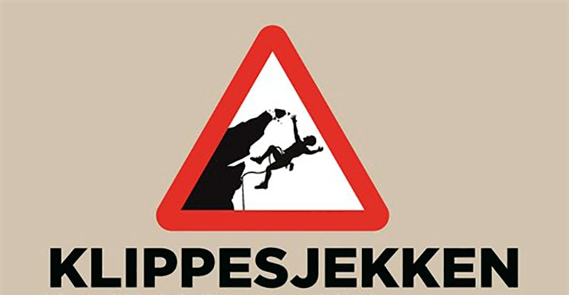 KLIPPESJEKKPLAKAT: Link til plakaten finner du i denne saken. Foto: Skjermdump fra Norges Klatreforbund.