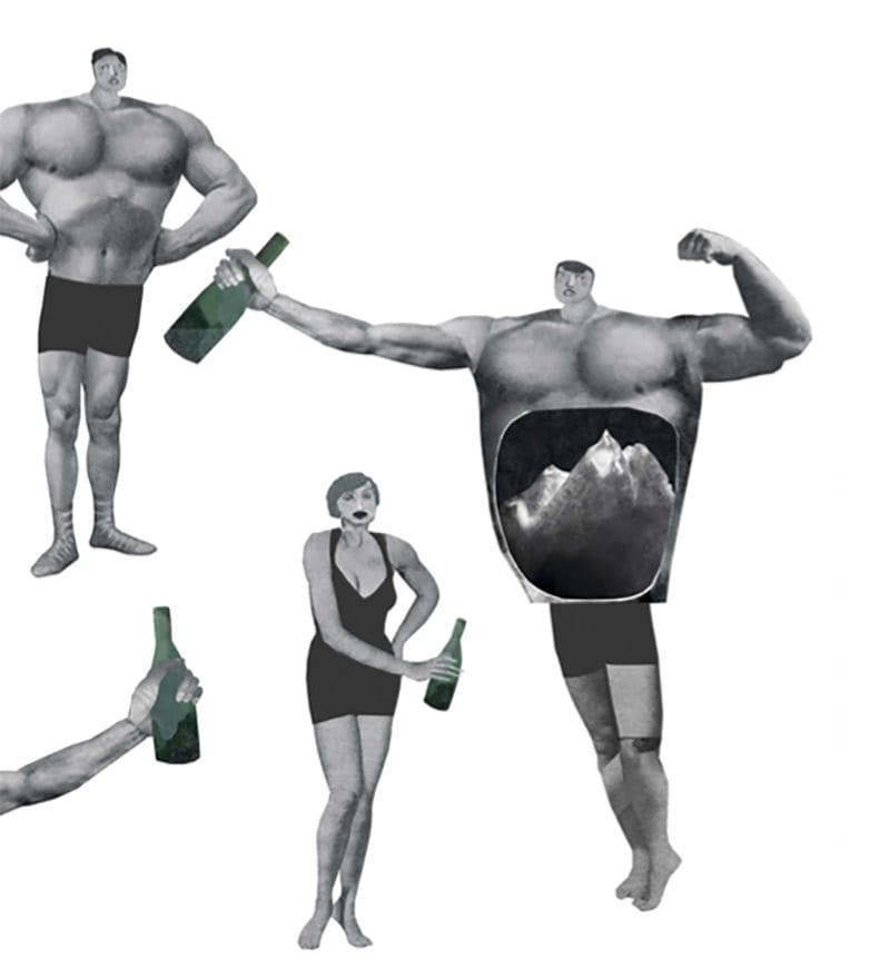 På klatrefestival kler alle av seg etter et par øl, paraderer rundt i bar overkropp, den ene strammere enn den andre, skriver Line Tveter. Illustrasjon: Julie Gry Sveistrup