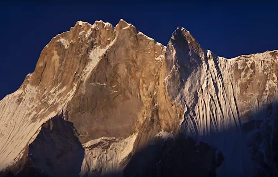 Meru Peak i India, Himalaya. Skjermdump fra traileren