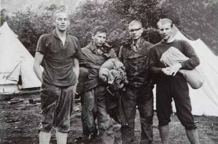 Det norske laget, fra venstre: Odd Eliassen, Leif Norman Patterson, Jon Teigland og Ole Daniel Enersen.