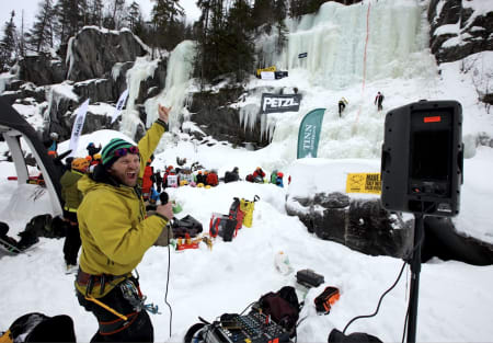 Jacob Surlykke Fink under isfestivalen for noen år siden. Foto: Dag Hagen