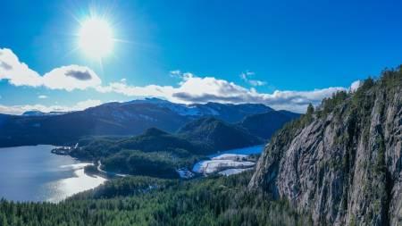 Sundenuten i Kviteseid i Telemark. Foto: Løypemakerlauget