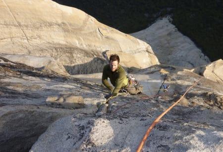 Solnedgang: Thomas topper ut El Capitan etter tre dager på veggen. Foto: Martin Skaar Olslund