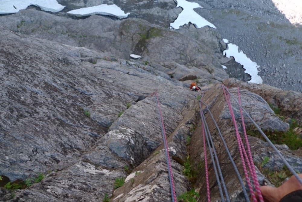 Norskeruta i Trollveggen. Foto: Trym Atle Sæland