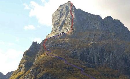 PLANER: Hornelen (860 moh) er Norges høyeste sjøklippe. Foto: Visit FjordKysten AS