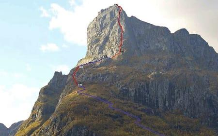 Hornelen (860 moh) er Norges høyeste sjøklippe. Foto: Visit FjordKysten AS
