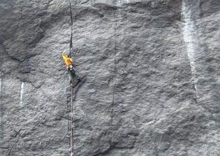 Pete Whittaker flasher Ronny Medelsvensson (8b). Foto:  Felix Johansson