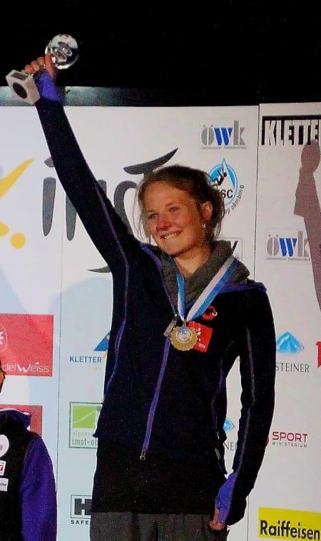 Ny tredjeplass til Tina Hafsaas i italienske Meran. Bildet er fra junior-VM i Imst i august. Foto: Stian Christophersen